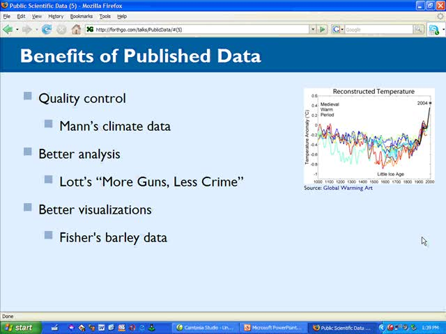 Preview of Public Scientific Data Talk at NC Science Blogging Conference