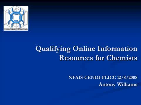 Preview of Qualifying Online Information Resources for Chemists
